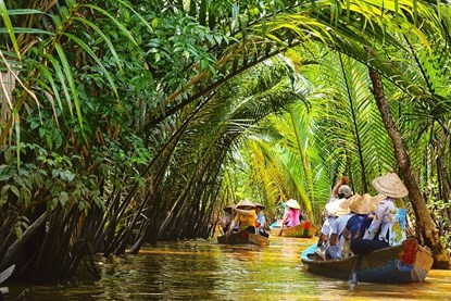 Boating in Mekong Delta River