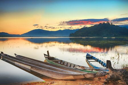 Picture for category Central Highlands lake offers a Southeast Asian camping high