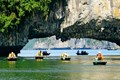 Rowing boat on Halong Bay - Vietnam Package Tour