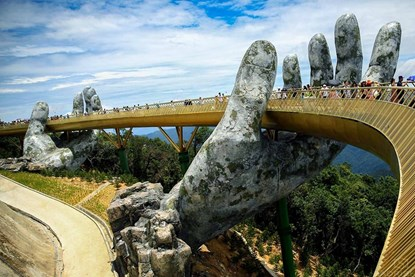 The Golden Bridge at Ba Na Hills