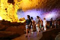 Visiting cave in Halong Bay