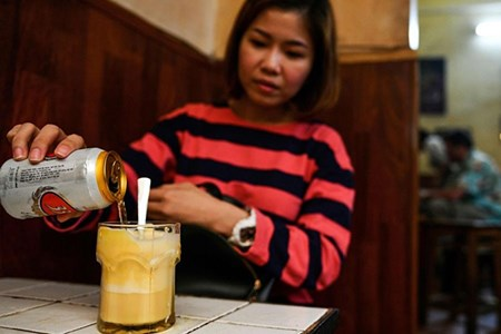 Picture of Frothed not fried: Hanoi's egg beer draws curious drinkers
